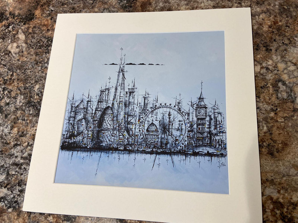 Landmarks of London- Small Mounted Print