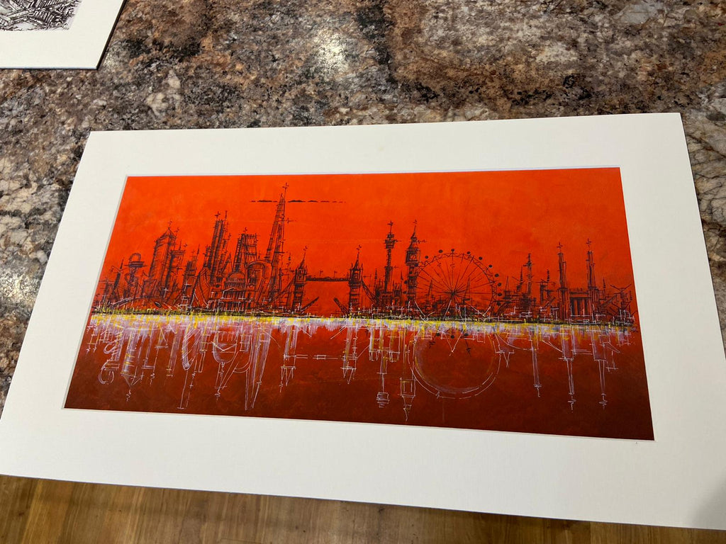 Blood Moon- Small Mounted Print