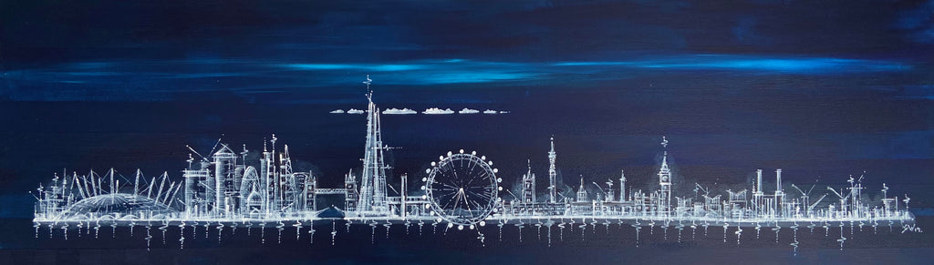 """London Skyline at Midnight"" Limited Edition Signed Print"