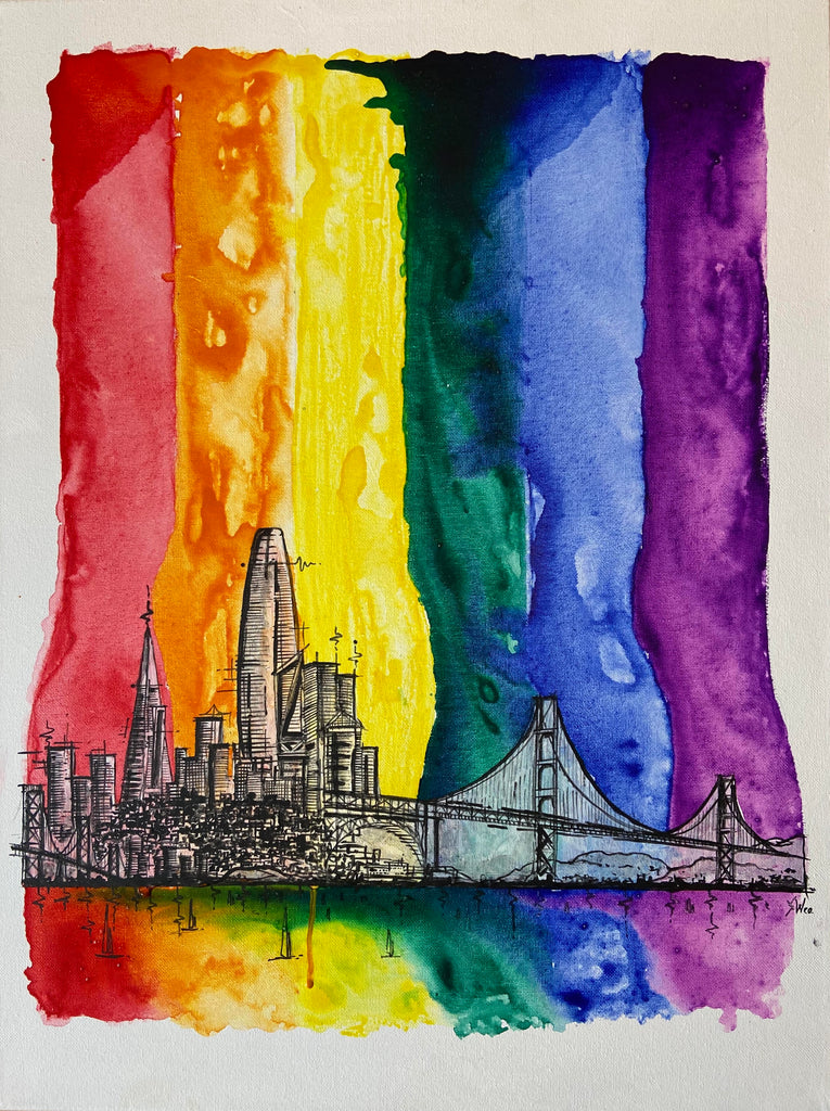 """Love Won: 50 Years of Pride"" (San Francisco) Limited Edition Print"