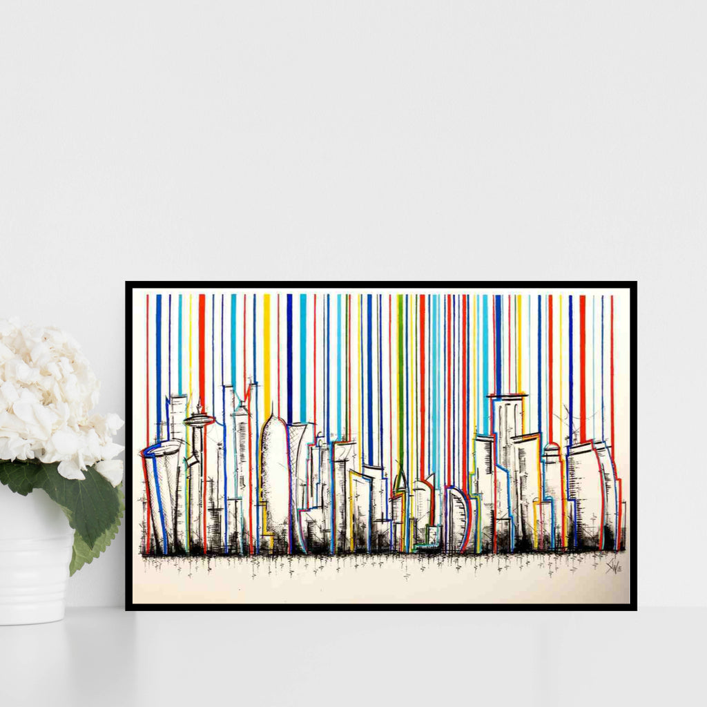 """Doha Stripes"" Limited Edition Signed Print"