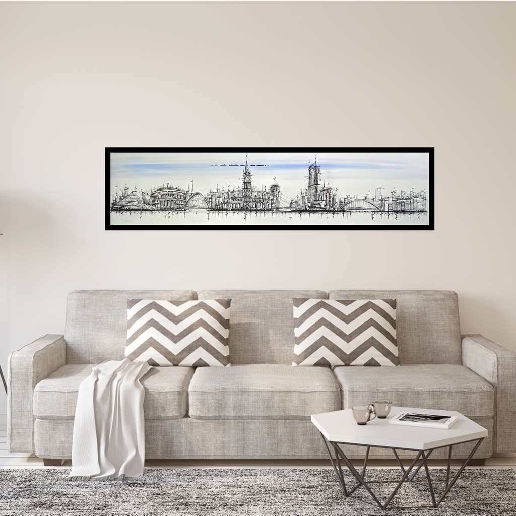 """Manchester in View"" Limited Edition Paper/Canvas Print"