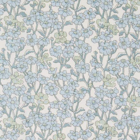 Liberty Of London - Chiltern Hill Lasenby Quilting Cotton Fabric - Blue - 1/2 Yard