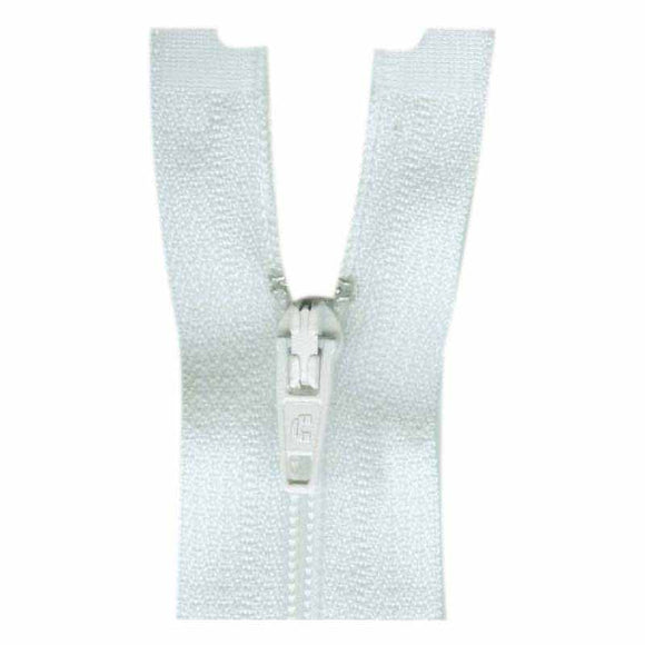 Lightweight Open Ended Seperating Zipper 60cm (24″) No. 3 - White