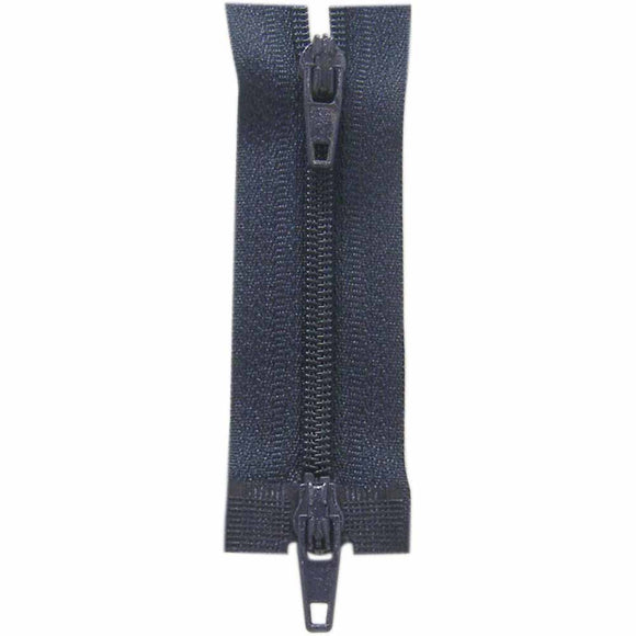 Two Way Separating Zipper - Lightweight Nylon Coil 60cm (24″) - Navy