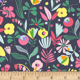 Dear Stella - Hawaiian Flowers Floral - Jersey Knit Fabric - Multi - 1/2 Yard