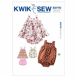 Kwik Sew - K3776  Infants' Dress, Bloomers and Romper (sizes newborn to 18 months )