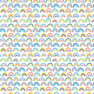 Paintbrush Studio - Over the Rainbow - Bright Rainbow - Quilting Cotton - 1/2 Yard