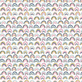 Paintbrush Studio - Over the Rainbow - Soft Rainbow - Quilting Cotton - 1/2 Yard