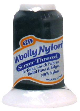 YLI Woolly Nylon Thread - 1094 yds (1000m) Spool - Black