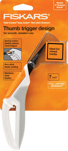 Fiskars Total Control Non-Stick Precision Craft Scissors