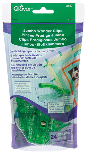 CLOVER - Jumbo Wonder Clips -  24 Count 24Pcs