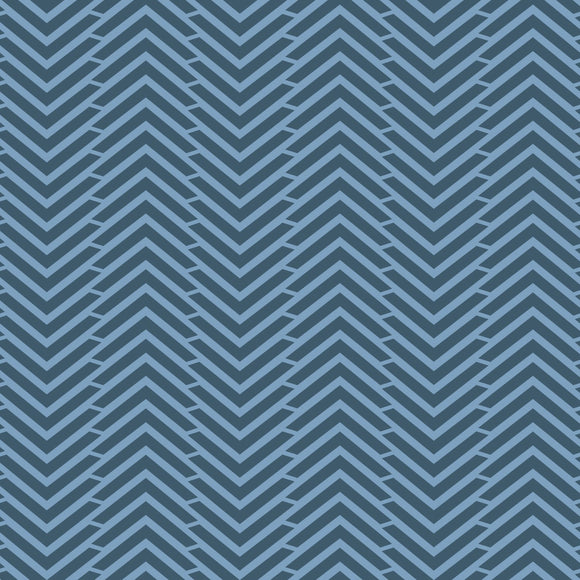 Camelot Fabrics Mixology - Herringbone - Midnight - 1/2 Yard