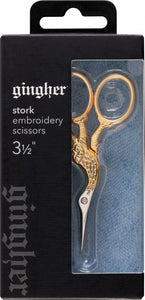 Gingher 3 1/2in Stork Embroidery Scissor