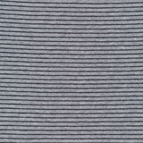 Cloud9 Fabrics - Organic Cotton Interlock Knit - Little Stripes - Heather Grey / Black - 1/2 Yard