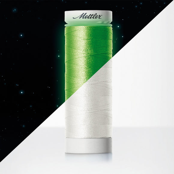 Mettler - Poly Glow Phosphorescent 40wt Embroidery Thread - Glow In the Dark - 109 Yards