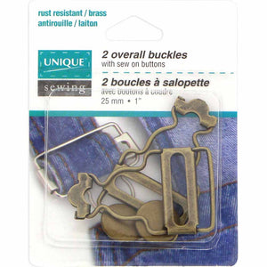 Overall Buckle Kit - Gold - 25mm (1″) - 2 pcs