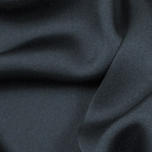 "Charcoal Grey Silk Stretch Double Georgette 16 Momme - 16mm - 54"" extra wide - 1/2 yard"