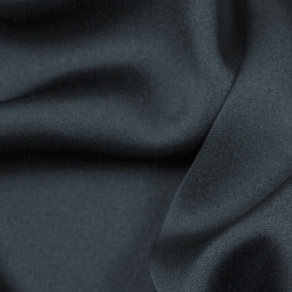 Charcoal Grey Silk Stretch Double Georgette 16 Momme - 16mm - 54