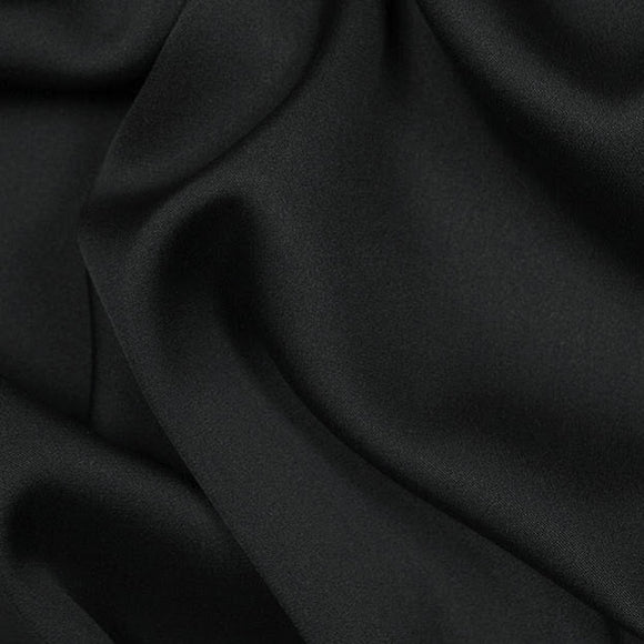 Black Silk Stretch Double Georgette 16 Momme - 16mm - 54