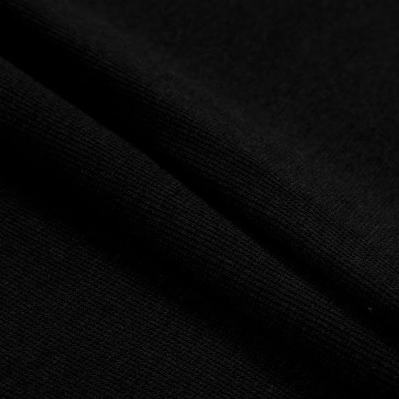 TENCEL™ Lyocell Organic Cotton 2x2 Rib Black - 1/2 Yard