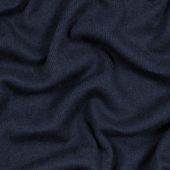 TENCEL™ Lyocell Organic Cotton 2x2 Ribbed Knit - Navy - 1/2 Yard