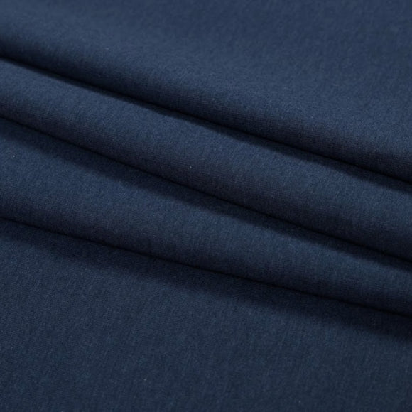 Bamboo/Cotton Stretch French Terry - Marine Navy - 1/2 Yard