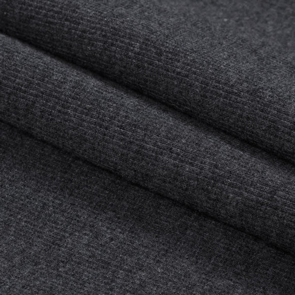 Bamboo Cotton Rib 2x2 Charcoal - 1/2 Yard