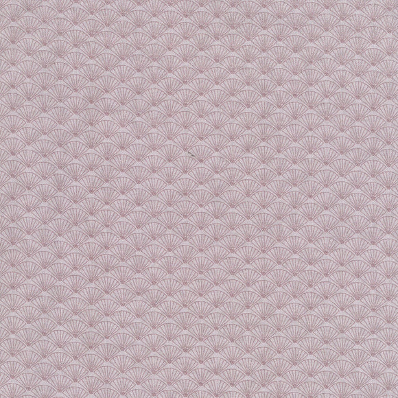 Lecien Japan - Dancing in the Blossoms - Shells - Cotton Fabric - Mauve - 1/2 Yard