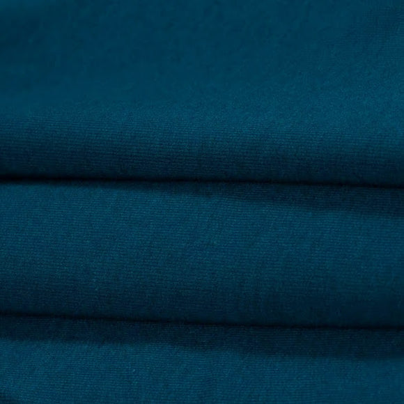 Bamboo/Cotton Stretch Jersey - Moroccan Blue - 1/2 Yard