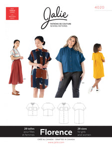 Jalie - 4020 - FLORENCE Shirt and Shirtdress