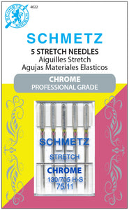 Schmetz Chrome Professional Grade Stretch Needles Carded - 75/11 - 5 count