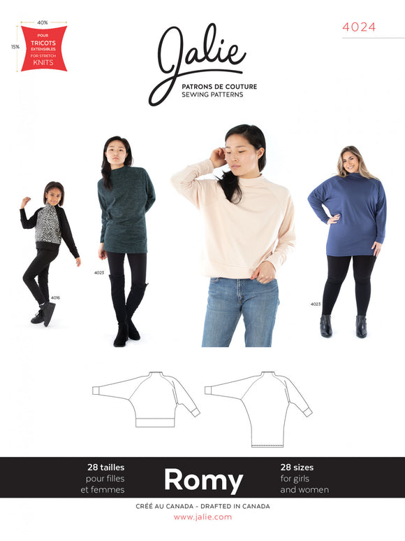 Jalie - 4024 -  ROMY Sweater and Tunic
