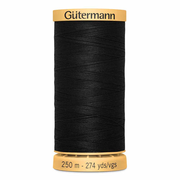 Gütermann Cotton 50wt Thread 250m - Black