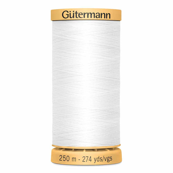 Gütermann Cotton 50wt Thread 250m - Nu White