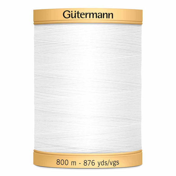 Gütermann Cotton 50wt Thread 800m - Nu White
