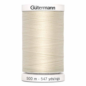 Gütermann Sew-All Thread 500m - Eggshell Col.22