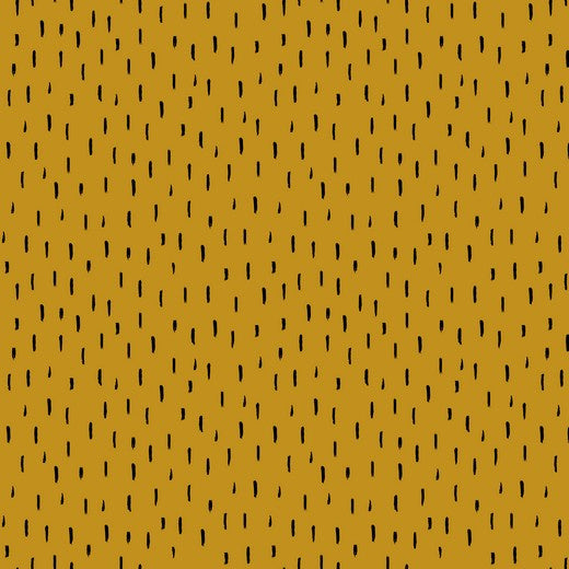 Dash - Ochre - Poppy - GOTS Certified Organic Cotton Jersey Knit - 1/2 Yard