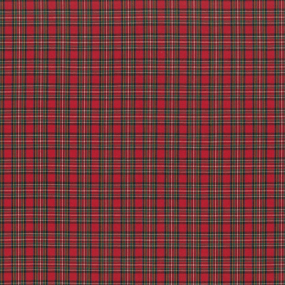 Sevenberry for Robert Kaufman Classic Plaids Collection - Red and Green - Yarn-dyed Woven Shirting Fabric - 1/2 Yard