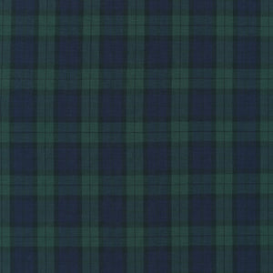 Robert Kaufman Sevenberry Classic Plaids Collection - Hunter Green - Woven Shirting Fabric - 1/2 Yard