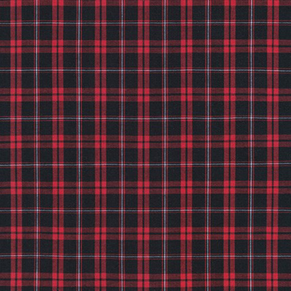 Sevenberry for Robert Kaufman Classic Plaids Collection - Red and Dark Navy - Yarn-dyed Woven Shirting Fabric - 1/2 Yard