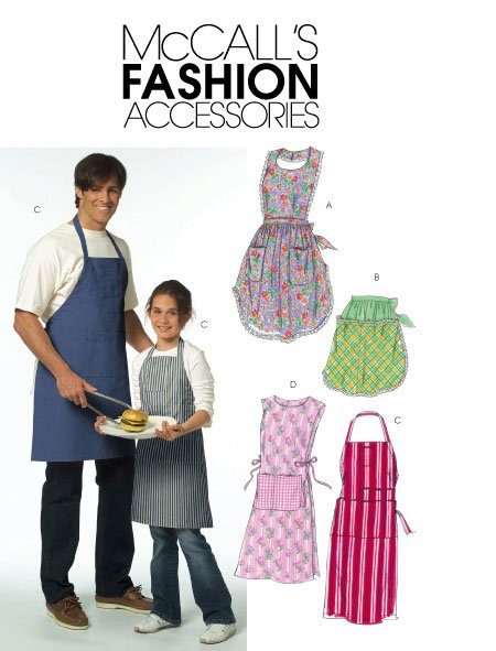 McCall's - M5551 Misses', Men's, and Children's Aprons (age 3 to XL adult)