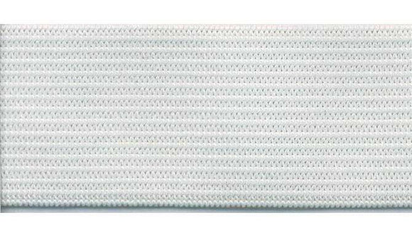 10mm (3/8'') Soft Knitted Elastic - White - Select Length