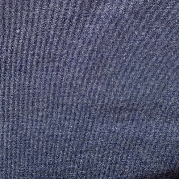Bamboo/Cotton Stretch French Terry - Heather Lake - 1/2 Yard