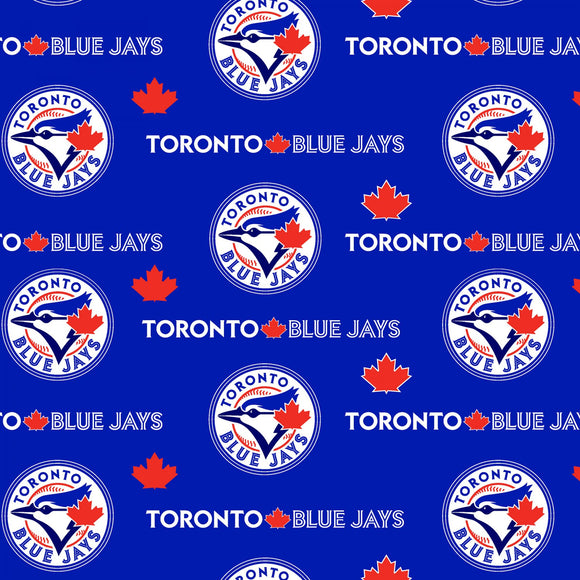 MLB Toronto Blue Jays Cotton Fabric 60in - Fabric Traditions - 1/2 Yard