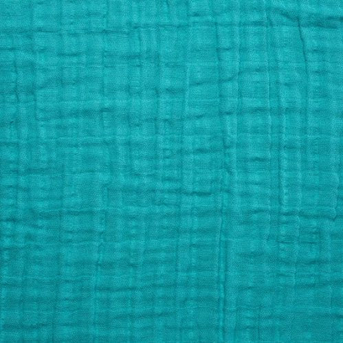 Embrace Cotton Solid Double Gauze in Teal