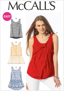 McCall's - M6928 Misses Tops and Tunics, Size Y (xs-s-m)
