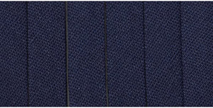 Extra Wide Double Fold Bias Tape 16mm - Navy By the Meter