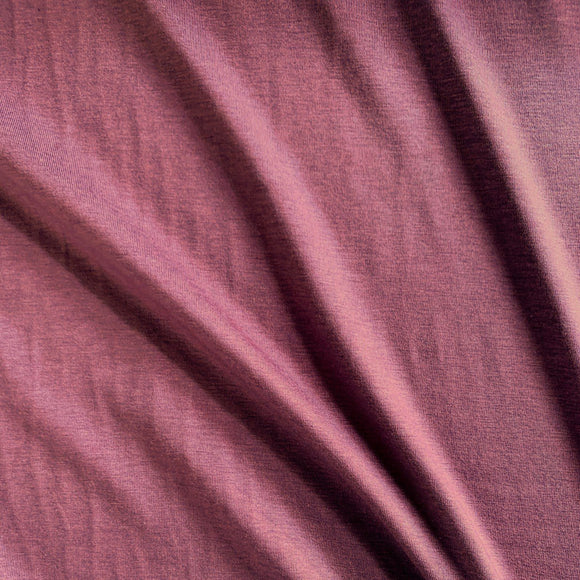 Bamboo/Cotton Stretch Jersey - Rose Brown - 1/2 Yard