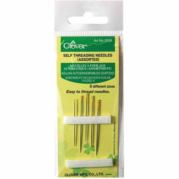 CLOVER 2006 - Self Threading Needles - Assorted Sizes
